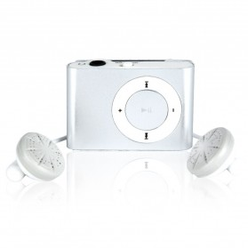 Pod MP3 Player TF card dengan Klip - KX56 - Silver