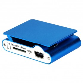 Pod MP3 Player TF card dengan Klip - KX56 - Silver - 3