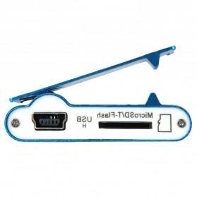 Pod MP3 Player TF card dengan Klip - KX56 - Silver - 4