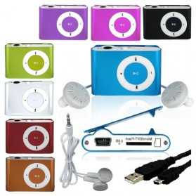 Pod MP3 Player TF card dengan Klip - KX56 - Silver - 5