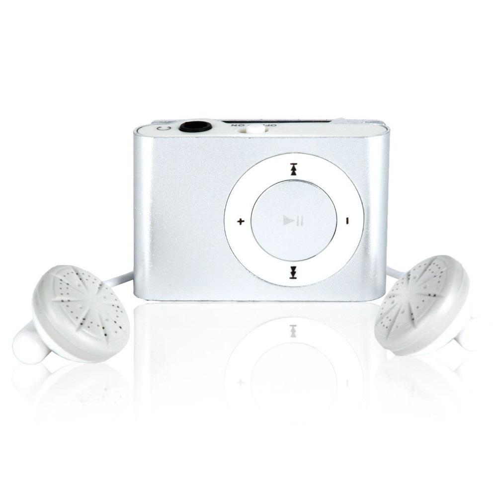 Pod MP3 Player TF card dengan Klip - KX56 - Silver 475da080ca