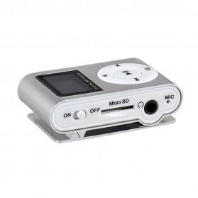 ZUCZUG Pod MP3 Player TF Card dengan Klip & LCD - ZC10 - Silver - 3