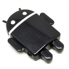 Android Robot MP3 Player TF card with Small Clip - Black - 2