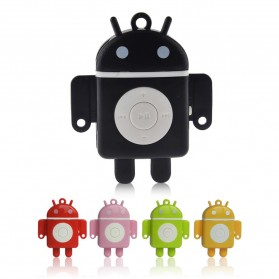Android Robot MP3 Player TF card with Small Clip - Black - 3