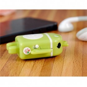 Android Robot MP3 Player TF card with Small Clip - Black - 5
