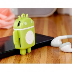 Android Robot MP3 Player TF card with Small Clip - Black - 6
