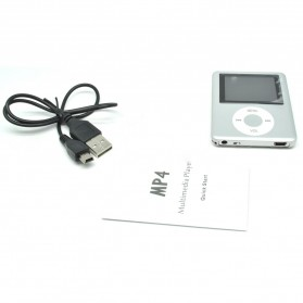 Pod MP4 Player 1.8 Inch LCD FM Radio - Silver - 3