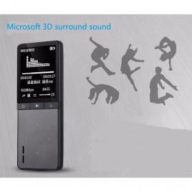 ONN W8 MP3 Digital Audio Player Bluetooth 8GB with Mic Recorder - Black