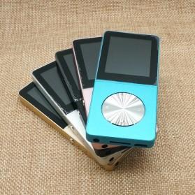 Metal HiFi DAP MP3 Player LCD E-Book FM Radio Clock 8GB - Black - 5