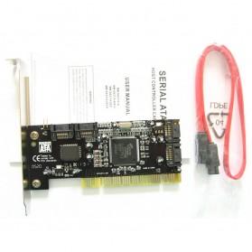 PCI SATA Raid Controller 4 Port - 1394 - Black