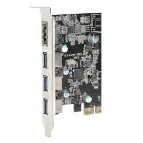 PCI Express to 3 x USB 3.0 and 1 x eSata - A-PCIE3P