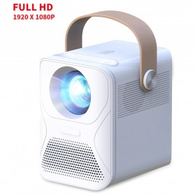 Projector / Proyektor Display - Aumiro X6 Proyektor Mini Portable Home Projector Android 1080P 4000 Lumens - PR013 - White