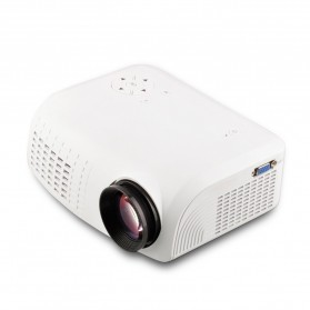Mini Portable Projector LED 100 Lumens with SD Card Support 640x480P - E07 - White