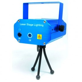 Mini Laser Stage Light Multicolor Projector 6 Pattern - MGY-006 - Blue
