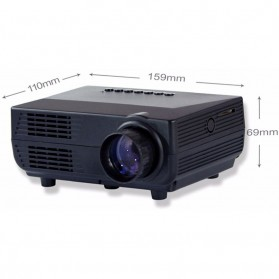 Proyektor Mini LED 60 Lumens 480P with TV Receiver - VS311 - Black - 10