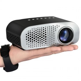 Mini Portable Projector LED 100 Lumens 480 x 320 Pixel  - GP802A - Black