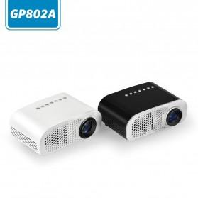 Mini Portable Projector LED 100 Lumens 480 x 320 Pixel  - GP802A - Black - 3