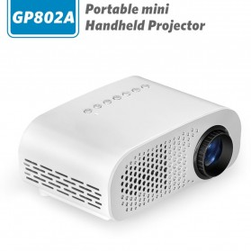 Mini Portable Projector LED 100 Lumens 480P with Analog TV Receiver & SD Card Support - GP802A - White
