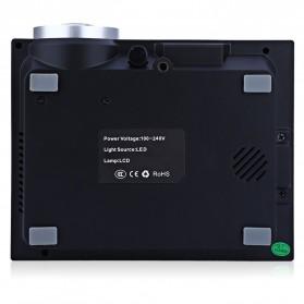 Proyektor Mini LCD AirPlay 800 x 480 Pixel 1000 Lumens - GM60A - Black - 5