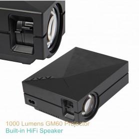 Proyektor Mini LCD 800 x 480 Pixel 1000 Lumens - GM60 - Black - 3