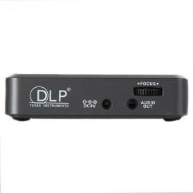 Mini Projector with MicroSD Port 854 x 480px 3000mAh- ML30 - Black - 4