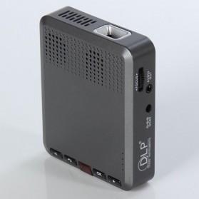 Mini Projector with MicroSD Port 854 x 480px 3000mAh- ML30 - Black - 5