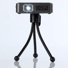 Mini Projector with MicroSD Port 854 x 480px 3000mAh- ML30 - Black - 6