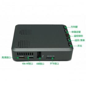 Mini Projector with MicroSD Port 854 x 480px 3000mAh- ML30 - Black - 8