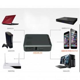Mini Projector with MicroSD Port 854 x 480px 3000mAh- ML30 - Black - 9