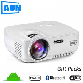 Projector / Proyektor Display - AUN Proyektor Android 800x480 Pixel 1400 Lumens - AM01S - White