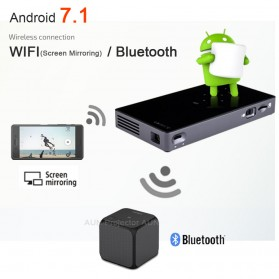 D5S Proyektor Android 7.1 WiFi Bluetooth HDMI Out - Black - 4