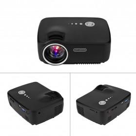 Mini LED Proyektor 1080P 1200 Lumens - GP70 - Black - 2