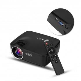 Mini LED Proyektor 1080P 1200 Lumens - GP70 - Black - 3