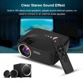 Mini LED Proyektor 1080P 1200 Lumens - GP70 - Black - 5