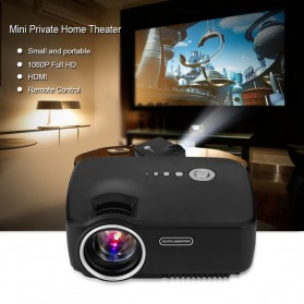 Mini LED Proyektor 1080P 1200 Lumens - GP70 - Black - 8