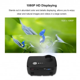 Mini LED Proyektor 1080P 1200 Lumens - GP70 - Black - 9