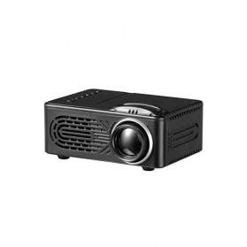 Mini Portable Projector LED with TF Card Support 320 x 240 - RD-814 - Black