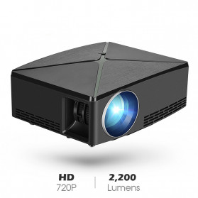 Projector / Proyektor Display - AUN Proyektor Home Theater HD 720P - C80 - Black