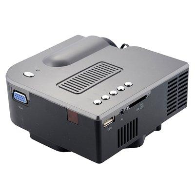 portable led projector 50 ansi lumens with speaker and. Black Bedroom Furniture Sets. Home Design Ideas