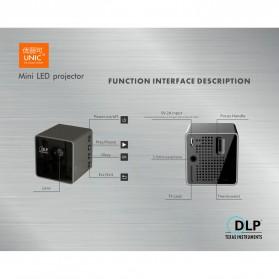 UNIC P1+ WiFi DLP Proyektor Mini 640P 30 Lumens - Black - 9