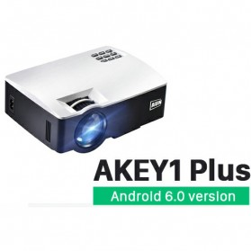 Laptop / Notebook - AUN AKEY1 Plus WiFi Proyektor 1080P 1800 Lumens Android 6.0 - White