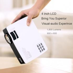 AUN AKEY1 Plus WiFi Proyektor 1080P 1800 Lumens Android 6.0 - White - 2