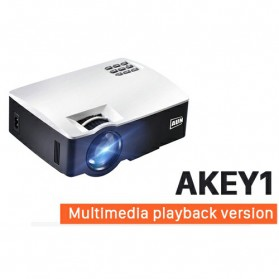 Laptop / Notebook - AUN AKEY1 Proyektor 1080P 1800 Lumens - White