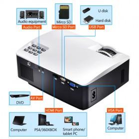 AUN AKEY1 Proyektor 1080P 1800 Lumens - White - 3