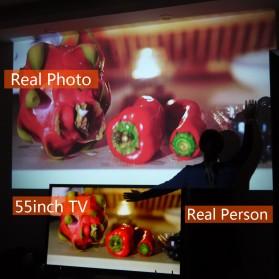 AUN Proyektor Android 1280 x 768 Pixel 3200 Lumens - T90S - Black - 5