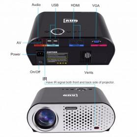 AUN Proyektor Android 1280 x 768 Pixel 3200 Lumens - T90S - Black - 7