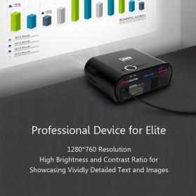 AUN Proyektor Android 1280 x 768 Pixel 3200 Lumens - T90S - Black - 9