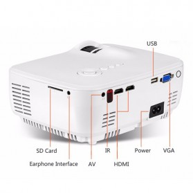 AUN Proyektor Android 800x480 Pixel 1400 Lumens - AM01S - White - 5