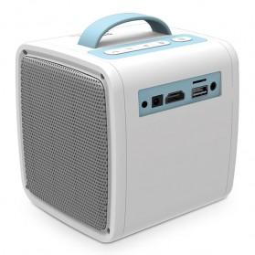 AUN Proyektor Mini Khusus Anak 320P 700 Lumens - Q2 - White - 7