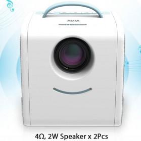 AUN Proyektor Mini Khusus Anak 320P 700 Lumens - Q2 - White - 8